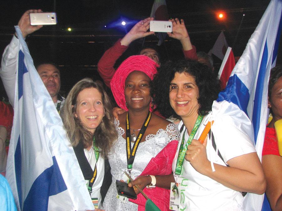 תמונה של אוסנת שמש שור בכנס הגלובלי